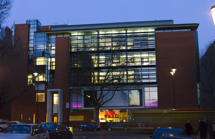 Exterior of Dana Centre at dusk, Feb 2004.