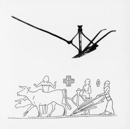 Babylonian grain drill.