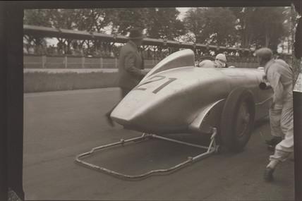 Zoltan Glass motor racing photograph, c 1930s.