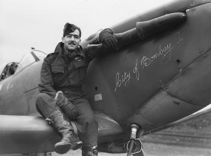 Spitfire pilot, c 1940s.