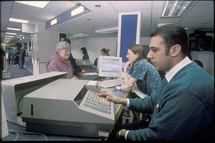 Leeds ticket office, 2001.