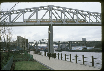 Railway bridge at Newcastle, 1993.