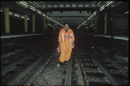 Fluffer, Whitechapel Station, London, 1996.