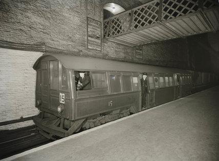 Early underground train, c 1935.