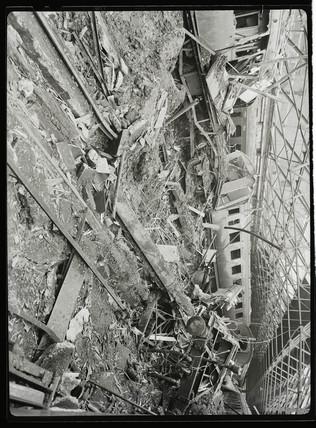 Bomb damage, c 1942.