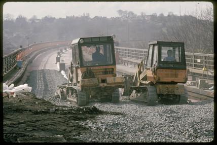 Laying ballast, 1989.