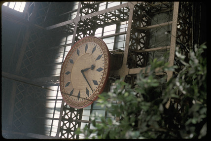 St Pancras Station clock, 1993.