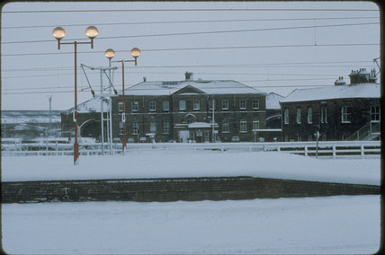 York Station in the snow, 1991.
