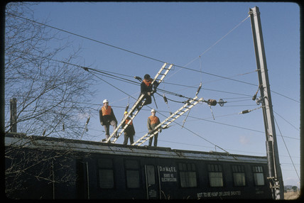 Electrification at Pilmoor, 1989.