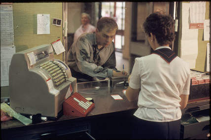 Ticket office at York Station, 1993.