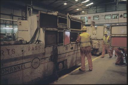 Channel tunnel train, 1992.