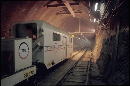 Channel Tunnel train, 1991.