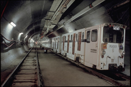 Channel Tunnel train, 1992.