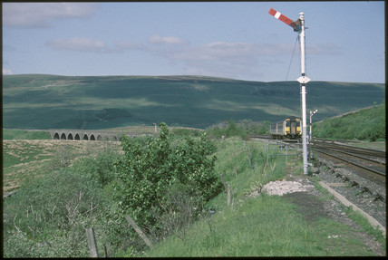 Settle to Carlisle Railway at Garsdale, 1994.