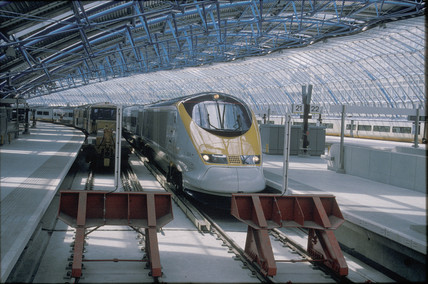 Eurostar at Waterloo International Station, 1994.