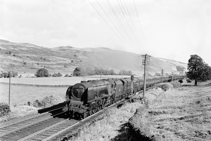 Passenger train at Shap, 1958
