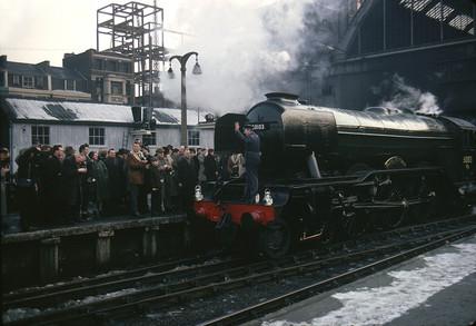 Flying Scotsman at King's Cross, 1963.