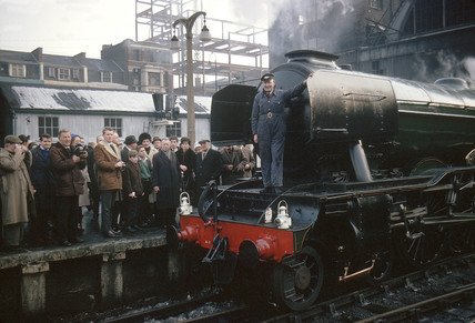 Flying Scotsman at King's Cross, 1963.