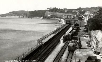 Dawlish Station, Devon, c 1900.