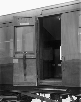 Third class coach with cross corridors, 24th May 1945.