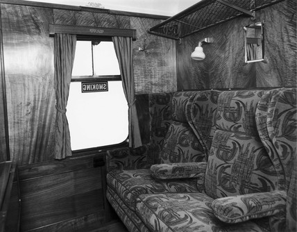 Interior of coach compartment, 24 January 1936.