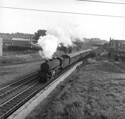 Train at Lofthouse, 1963.