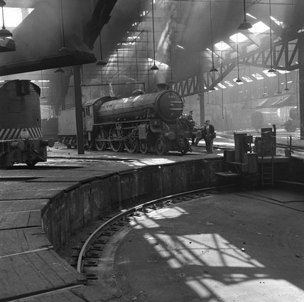 York engine shed, c 1954.