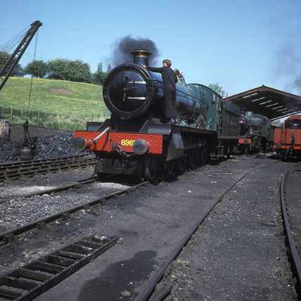 Severn Valley Railway locomotive, c 1974.