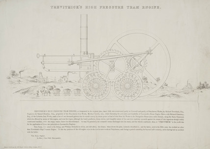 'Trevithick's High Pressure Tram engine' 1803.