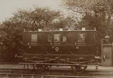 Stockton & Darlington Railway carriage, 1875.