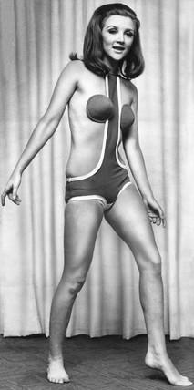 Model wearing 'Concord bikini', 30 January 1967.