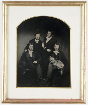 Reverend Errington and curates, c 1854.