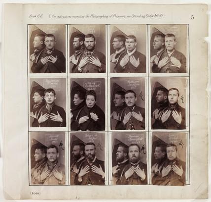 Portraits of criminals, c 1890.