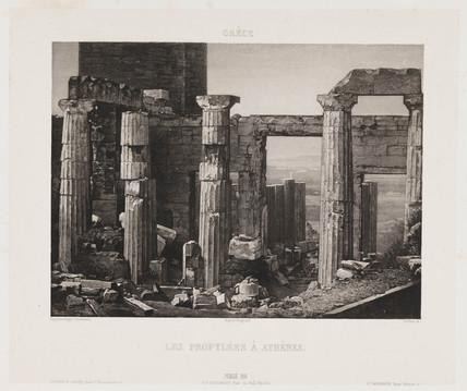 'Les Propylees a Athenes', c 1841.