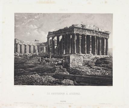 'Le Parthenon a Athens', c 1841.
