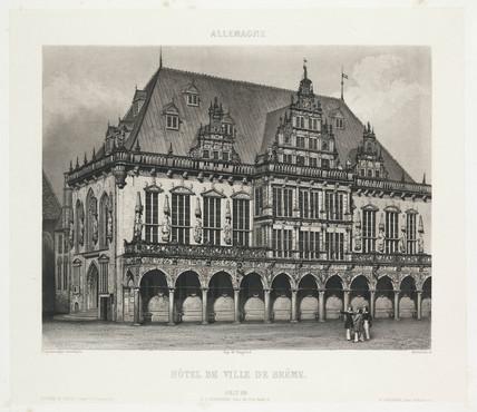'Hotel de Ville de Breme', c 1841.