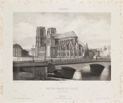 'Notre Dame de Paris', c 1841.