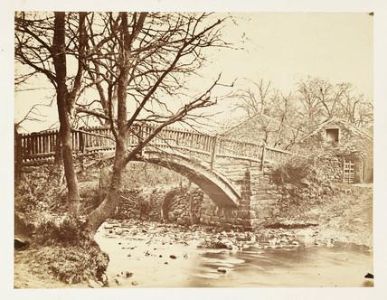 A small bridge, c 1855.