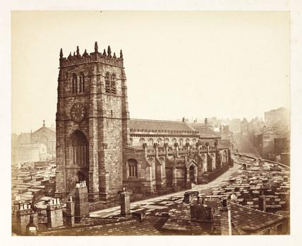 Bradford Cathedral, c 1855.