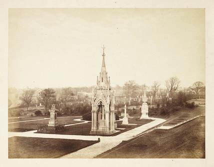 Undercliffe Cemetery, Bradford, c 1860.