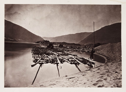 'A Pine Raft', c 1871.