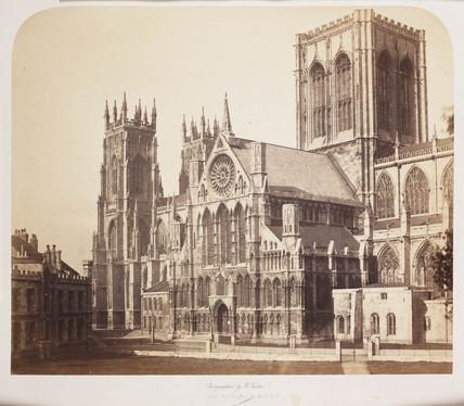 'York Minster fom the South East', c 1856.