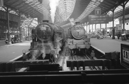 Jubilee class locomotive with the Irish Mail, c 1955.