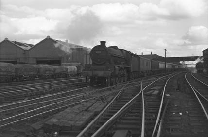 Jubilee class locomotive at Camden Bank, London, c 1955.
