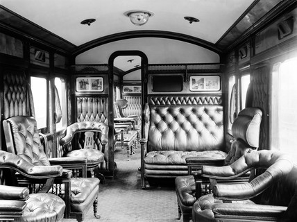 Carriage interior, 1905.