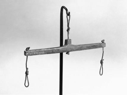 Prehistoric Egyptian balance beam, c 5000 BC.