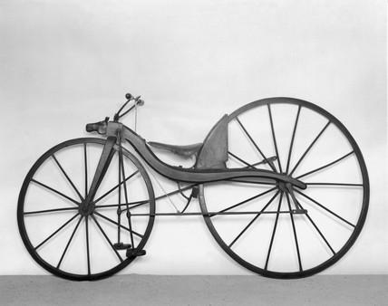 MacMillan rear-driven bicycle, c 1839.