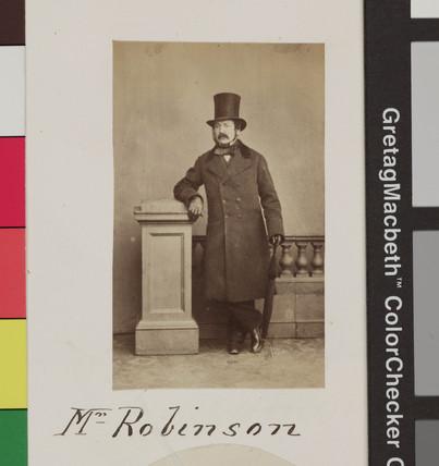 James Robinson, photographer, c 1860.