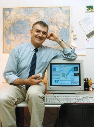 Robert Cailliau, web pioneer, c 1990s.