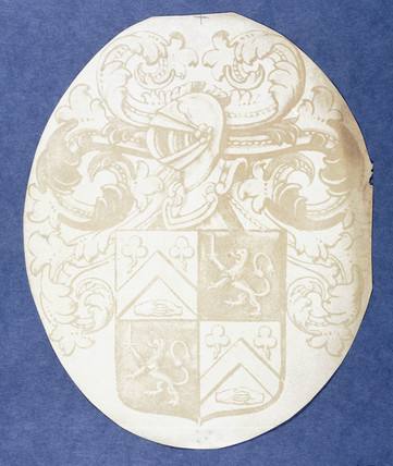 Copy of a coat of arms from stained glass, 1839.